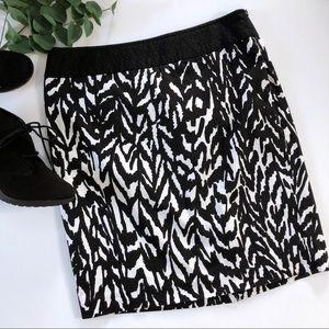 The Limited Pencil Skirt 10 Zebra Black & White